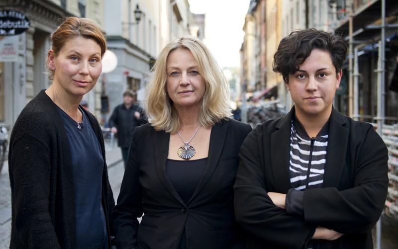 Carolina Jemsby, Ylva Bergman och Maria Starck. Ania Janerud och Julia Björne saknas på bilden. Foto: Global Reporting